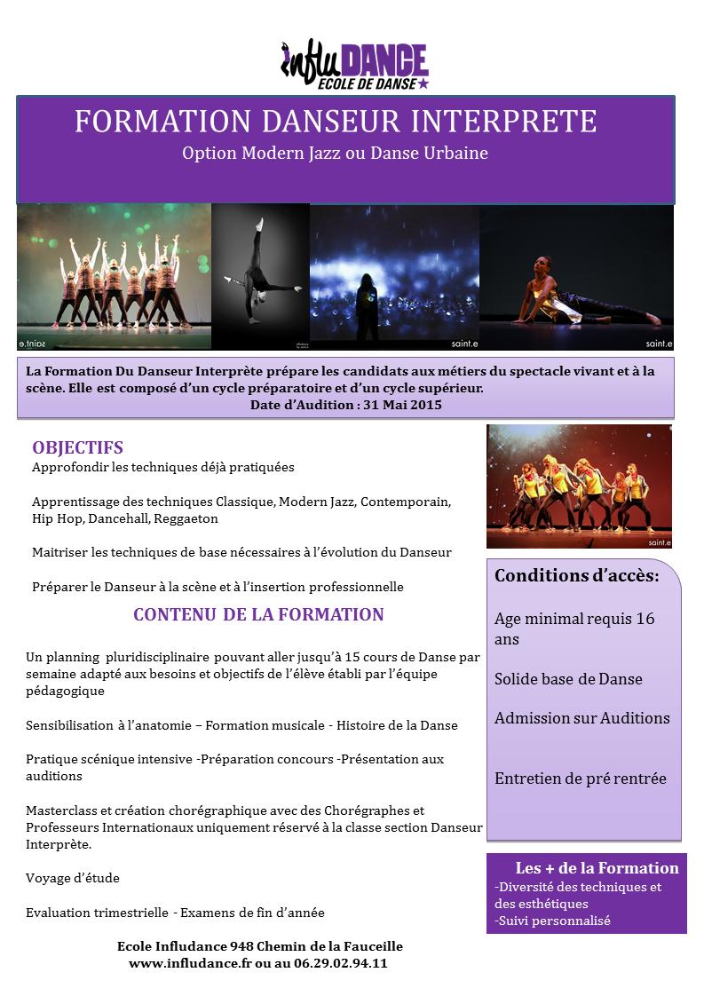 Fice résumé for pro danseur interprète 2